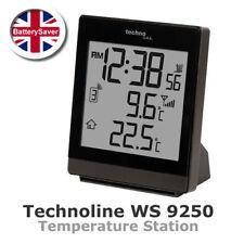 Technoline WS 9250 Estación Meteorológica con temperatura interior y al aire libre-Negro