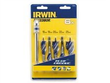 Irwin 1922007 6x Azul Groove corta madera set de brocas 5 piezas