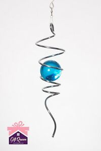 SILVER SPIRAL TAIL & BALL Illusion Accessory To Wind Spinner Stainless Steel NEW