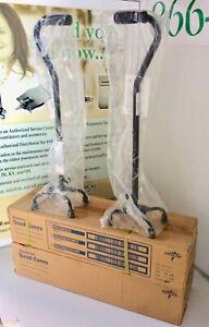Lot of 2 New MedLine Aluminum Quad Canes MDS86222