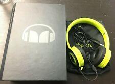MONSTER ISPORT YELLOW & GREEN HEADPHONES MO: 190506 W/ BOX/BAG/CLOTH