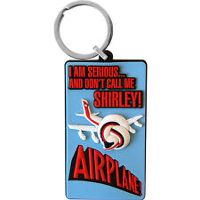 Airplane PVC Keyring. Movie Film Keychain Comedy Funky Retro Keychain SALE ITEM