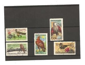 5 Czechoslovakia Stamps, Mountain Birds. 1965 Used & cto.