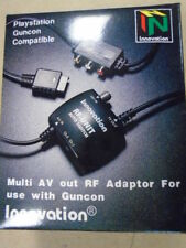 PS2 PS3 PS1 Playstation Guncon Multi AV Cable RF Switch Audio Video SCPH-1160