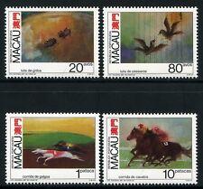 Macau Macao 1990 Tierwettkämpfe Pferde Hunde Vögel Grillen 663-66 Postfrisch MNH