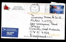 Estados Unidos 2007 comercial cubierta de correo aéreo a Reino Unido #c 10597