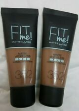 2 x Maybelline Fit Me Matte & Poreless Foundation 352 Truffle 30ml NEW SEALED