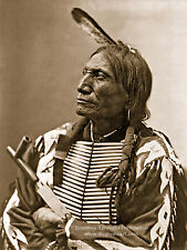 Large Reprint Vintage Native American Photograph, BROKEN ARM, Sioux Indian Man