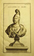 1724,Da Bernard MONTFAUCON, BUSTO DI ALESSANDRO IL GRANDE.Cm 33x19.Inc/Rame.Etna