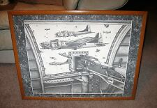 TRIBUTE TO THE 34th PENCIL ART PRINT BY WENDELL G WILLIAMSON, 357/500, WWII B17