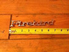 FIREBIRD FRONT FENDER EMBLEM Badge Nice