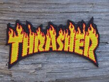 M081 ECUSSON PATCH THERMOCOLLANT aufnaher toppa THRASHER skate / 8cm x 4.2cm