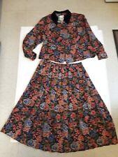 Ladies Vintage 2pc Winter Suit By Eastex Top Size 20 Skirt 18