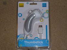 Nintendo Wii Nunchuk U & en Blanco Nuevo! Controlador de Juego Almohadilla Nunchuck Logic 3