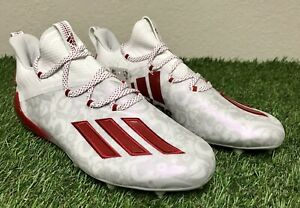 Adidas Adizero New Reign Floral Red YoungKing Football Cleats FU6708 Size 7-11.5