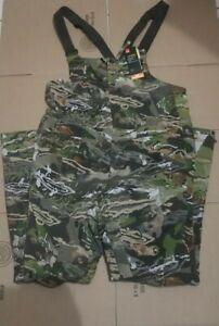 Under Armour Men Storm Mid Season Forest Camo Hunting Bib 1316872-940 Size 4XL