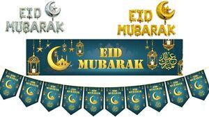 Eid Mubarak Emerald/Turquoise Green Set Banner Bunting Balloons decorative 2021