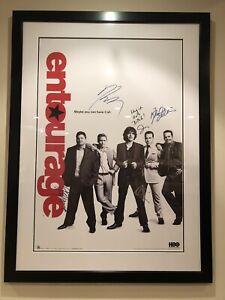 Custom Framed Entourage Signed Poster With COA