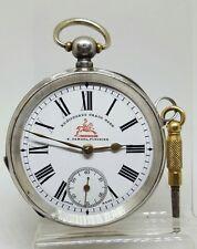 Antique solid silver gents H. SAMUEL Fleurier pocket watch 1900 gwo