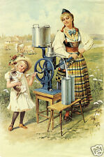 "AB Separator Alfa Laval Vintage Advertising Poster 1900, 7x5"" Reprint"