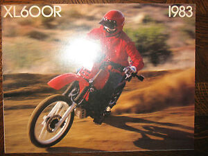 1983 HONDA XL600R NOS OEM DEALER'S SALES LITERATURE BROCHURE XL 600 R 83