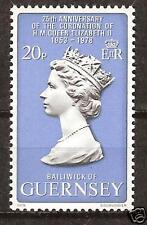 Guernsey # 163 Mnh Royal Visit Queen Elizabeth Ii