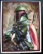 Star Wars Boba Fett blaster helmet Return of Jedi rare art print poster CVI rare