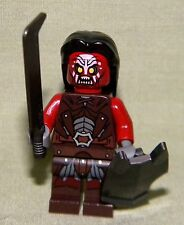 Lego URUK-KAI W/ HAIR SWORD SHIELD Mini-Figure Loose From 9471 Lord of the Rings
