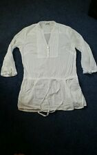 GEORGE 3/4 SLEEVED LONG TOP SIZE 10 TAB SLEEVES
