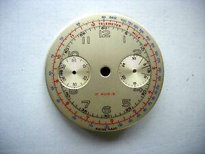 Cadran montre watch chronographe dial landeron 48 148 248  diam 31 mm  n1