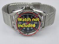 Mens Shark Mesh Heavy Duty Milanese Stainless Steel Watch Bracelet Strap 20/22mm