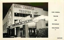 1940s HOLLYWOOD CA East Carroll Theater Resturant night RPPC postcard Night 272