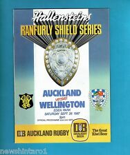 #Oo. Rugby Union Program - Auckland V Wellington 26th September 1987
