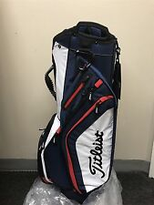 NEW Titleist GOLF Light Weight Cart Bag / Navy, White & Red