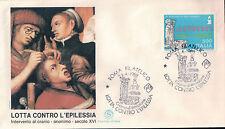 FDC ITALIA PRIMO GIORNO DI EMISSIONE 1988 LOTTA CONTRO L'EPILESSIA ROMA  7-37