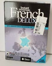 Instant Immersion French Deluxe v 2.0 Speech Language 8 Discs CD-Rom & Audio CDs