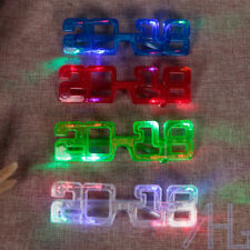 Light up Years Eve Party Glasses LED Supplies 2018 Glowing Happy Supplies\