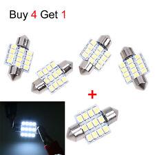 4x 31mm 12 LED SMD Festoon Dome Light Lamp Car Bulbs White 3021 DE3175 Get 1pcs