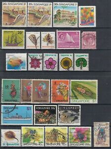 Singapore ☀ collection / lot of 27 used stamps ☀ scan