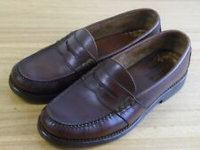 Polo Ralph Lauren Brown Leather Casual Dress Slip-On Penny Loafer Shoe Mens 10 D
