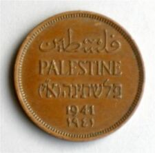 Israel Palestine British Mandate 1 Mil 1941 Coin XF
