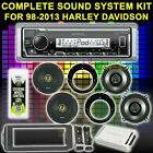 FOR HARLEY TOURING BAGGER SOUND SYSTEM KIT AMP KICKER 6.5