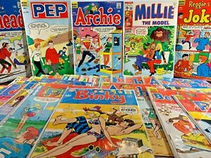 57 Issues ARCHIE COMIC Lot PEP Millie the Model BINKY Jughead BETTY & Veronica 1