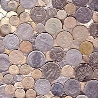 STEEL COINS 1LB (454G.) APPROX. 100 COINS 1 POUND FERROUS COLLECTIBLE COINS.