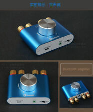 Blue color Mini Hifi 50W+50W Stereo Bluetooth Audio Power Amplifier AMP