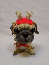 a4479ef5218 The Dog Artist Collection Christmas Large Bobble Head Pug Cutter Internl  Nodder