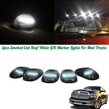 5pcs Universal Smoked Cab Roof White LED Lights Assemblies For Most Trucks SUV
