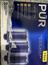 Blue PUR MAX ION Triple Action Mineral Clear Faucet Replacement Filter RF-9999