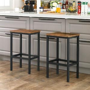 2er Set Barhocker Küchenstühle Barstühle mit Fußstütze Wohnzimmer Vintage LBC65X
