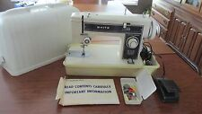 Vintage White Portable Sewing Machine Works!